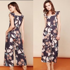 DOLAN ANTHROPOLOGIE Floral Wide Leg Jumpsuit